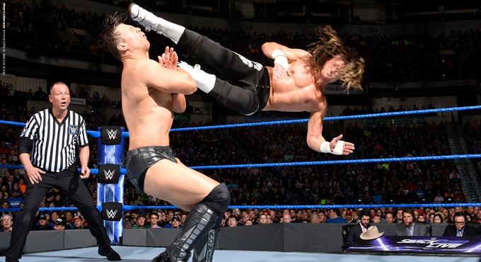 Foto luchadores WWE Spain 2017