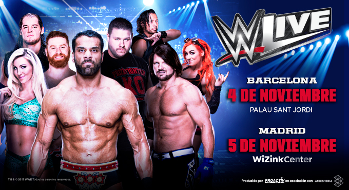 Ciudades y fechas WWE Spain 2017